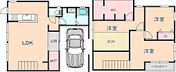 [一戸建] 大阪府豊中市本町3丁目 の賃貸【/】の間取り