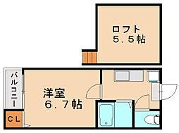 マカロニ[2階]の間取り