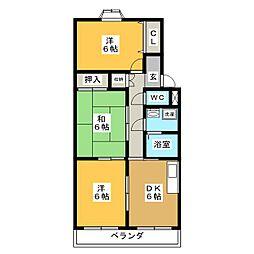 パープルタウンHIRO[2階]の間取り