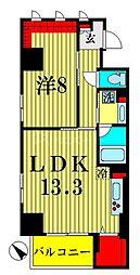 ザ アークトゥルス スピカ 2階1LDKの間取り