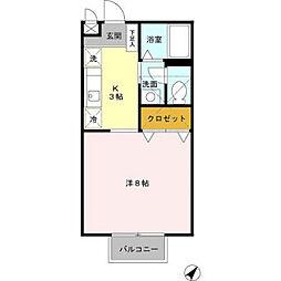 兵庫県加東市上中の賃貸アパートの間取り
