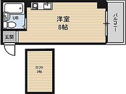 ロフティー野田[2階]の間取り