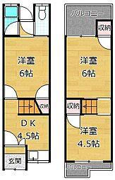 [テラスハウス] 大阪府枚方市出口1丁目 の賃貸【/】の間取り