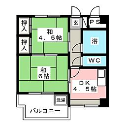 ハッピービル[3階]の間取り