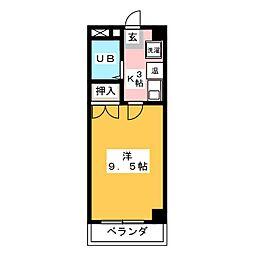 AZALEA2号館[5階]の間取り