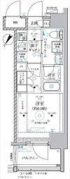 JR東海道本線 川崎駅 徒歩8分の賃貸マンション 12階1Kの間取り