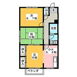 アネックスYAYOI B棟[2階]の間取り