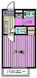 ハイツコマノ第6[2階]の間取り