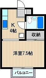 ベルシオン新川崎[2階]の間取り