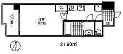 セレニテ三宮プリエ 2階1Kの間取り