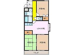 メゾンテラモト[4階]の間取り
