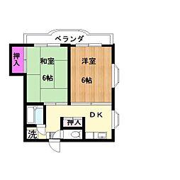 登戸21ビル[502号室]の間取り