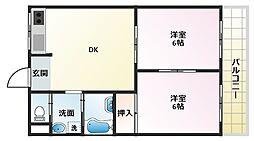 ロイヤル北斗[3階]の間取り