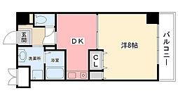 キャッスルプラザ甲子園[3階]の間取り