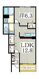 ソル・レヴェンテI[1階]の間取り