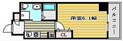 エイペックス京町堀II[9階]の間取り
