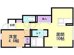 仮)D-room曙5条1丁目 1階1LDKの間取り