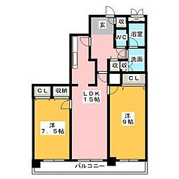 アンビックス志賀ストリートタワー[5階]の間取り
