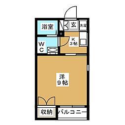 桂山サコウハイツIII[3階]の間取り