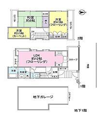 [一戸建] 東京都目黒区碑文谷5丁目 の賃貸【/】の間取り