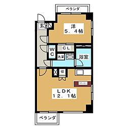 レジディア久屋大通II[9階]の間取り