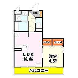 セジュール西新井[2階]の間取り