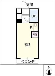 ナビオ杁中[3階]の間取り