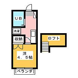 ココアハイツ[2階]の間取り