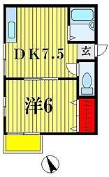カーサマツド[1階]の間取り