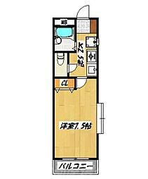 リッツハイム[1階]の間取り