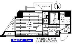 東京都大田区大森西7丁目の賃貸マンションの間取り
