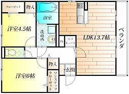 スウィート松本[3階]の間取り