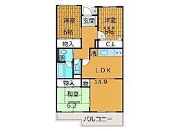 レジデンス新百合ヶ丘B棟[3階]の間取り