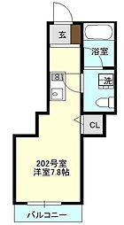 プランドール新横浜[202号室号室]の間取り