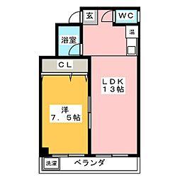 ガーデンヒルズ八田[2階]の間取り