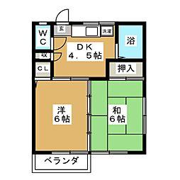 土樋ハウス[2階]の間取り