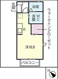 フィールス A棟[1階]の間取り