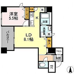 グランジット神田司町 3階1LDKの間取り