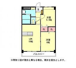 愛知県一宮市今伊勢町新神戸字郷東の賃貸マンションの間取り