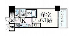 名古屋市営東山線 本山駅 徒歩2分の賃貸マンション 2階1Kの間取り
