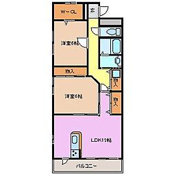 三重県鈴鹿市西条1丁目の賃貸アパートの間取り