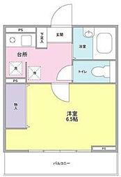 東京都杉並区宮前4丁目の賃貸マンションの間取り