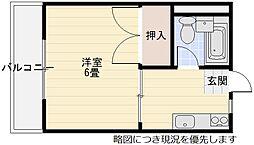 千里丘駅 徒歩8分3階Fの間取り画像