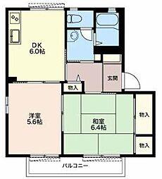 静岡県三島市中島の賃貸アパートの間取り