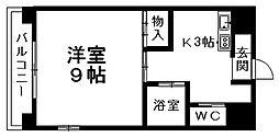愛媛県松山市本町7丁目の賃貸マンションの間取り