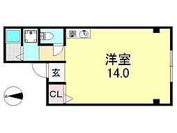 UNIBOXビル[3O1号室号室]の間取り