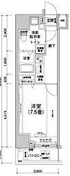 JR山手線 駒込駅 徒歩7分の賃貸マンション 5階1Kの間取り