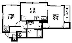 東京都杉並区井草2丁目の賃貸マンションの間取り