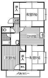 瀬戸タウン[A201号室]の間取り