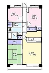 埼玉県草加市栄町3丁目の賃貸マンションの間取り